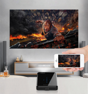 Prima Projector makes sports, gaming and movie nights much easier.