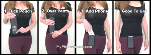 How to wear MyPhonePouch