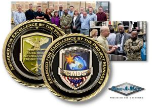 Awarded For Excellence By The Project Manager for Cruise Missle Defense Systems Challenge Coin.