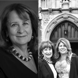 Naomi Wolf at Mansfield College, Oxford University, with Baroness Helena Kennedy while completing research on her latest book, Outrages