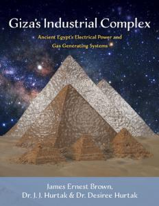 Giza Pyrmamids with starry background