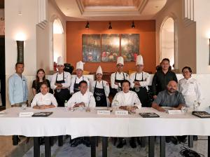 A photo of Park Hyatt Siem Reap Associates with the Good Taste Series 2019 panel of judges