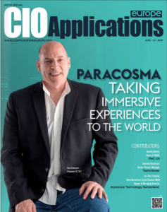Cover story on Paracosma Inc by CIO Applications Europe Magazine