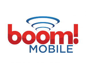 This is the official logo for boom! Mobile, a leader in wireless plans and coverage