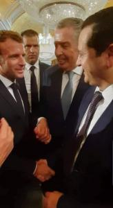 Minister Lahweej and President Macron