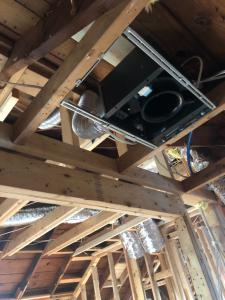 ducted mini split system - air handler in ceiling