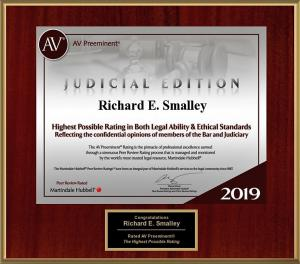 2019 AV Rating Richard E Smalley, attorney in Oklahoma