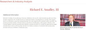 Attorney Profile Richard E Smalley III, Oklahoma