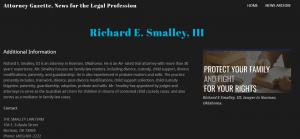 Profile of attorney Richard E Smalley in Norman, Oklahoma