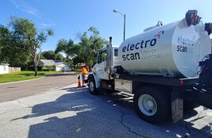 Electro Scan's Water Jet Truck simulates fully surcharged lines to pinpoint leak locations and severity.