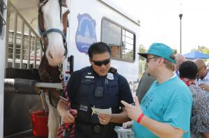 National Night Out, even the horse is learning about drugs