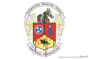 Chattanooga Times Free Press Cartoonist Clay Bennett's Version of the Tennessee Walking Horse National Celebration log
