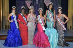 Ms. America 2018 Brittney Wagner, Ms. International 2019 Adri Maisonet Morales, Ms. America Elite 2019  Sierra Scott, Ms. America 2019 Joanna Hairabedian, Ms. America International 2019  LaTresa Doleman, and Ms. America International 2018 Kimberly Jones.