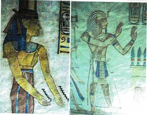 Goddess & Pharaoh with two right and left hands