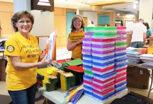 Scientology Volunteer Ministers of Seattle support the 6th annual backpack and school supplies drive.