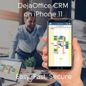 iPhone 11 featured with DejaOfffice CRM