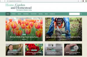 home garden and homestead website home page