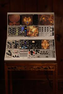A modular synthesizer