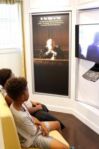 Attendees learn about their right to trial not only their Maranda rights. Exhibit attendees were able to view art as well as watch the 30 short films Youth for Human Rights created for each on of the human rights.