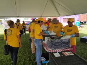 Scientology Volunteer Ministers served more than 15,000 meals on the first day of two Relief Days in Freeport.