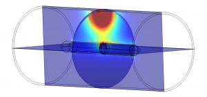 COMSOL® Multiphysics® scientifically displays tightly bound defect current that assesses 360-degrees of a pipe wall, including service connections, traveling 45-60 ft/minute
