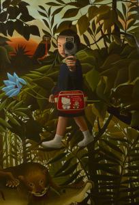 "Mitsuru Watanabe's ""Naoko Walking in Rousseau's Forest"" (Rehs Contemporary Galleries, NYC)"