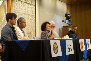 Following the presentation, religious leaders responded to questions from the audience.