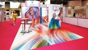Exhibition stand for leading hair and beauty brand Aura