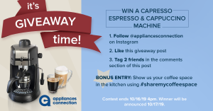 Appliances Connection Columbus Day Giveaway: Contest Rules