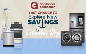 Appliances Connection Columbus Day Giveaway: End of Columbus Day Sale