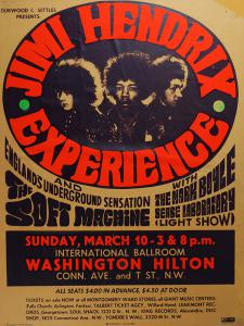 A $4000 Reward Is Offered For This Jimi Hendrix Washington Hilton 3/10/68 concert poster