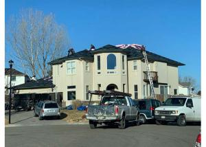 roof repair project in Fort Collins, CO