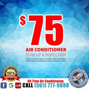 seventy five dollar tune up for fixing ac drain line clogged